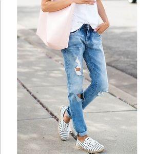 Zara Destroyed Boyfriend Mom Jeans